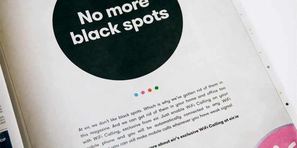 no more black spots Print advert