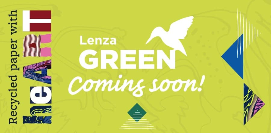 Lenza Green 100% recycled paper